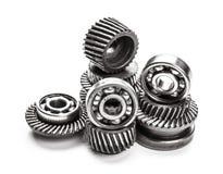 Roues en métal de vitesse Images stock