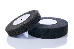 roues noires abrasives de gris d'aileron Photos libres de droits