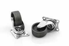 Roues roues en métal ou d'acier industrielles de roulette Photographie stock libre de droits