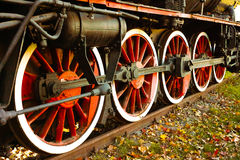 Roues rouges locomotives Images stock