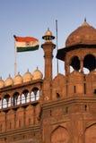 Rouge à Delhi, Inde Photographie stock libre de droits