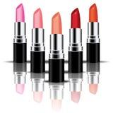 Rouge à lèvres coloré de vecteur perspactive Images libres de droits