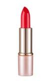Rouge à lèvres d'or d'isolement sur le fond blanc photos libres de droits