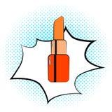 Rouge à lèvres rouge de nBright d'Art Cosmetic de bruit Illustration illustration stock
