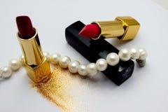 Rouge à lèvres pendant la vie Photo stock