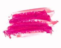 Rouge à lèvres rose enduit sur le blanc Produit cosmétique photo libre de droits