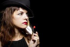 Rouge à lèvres rouge photos stock