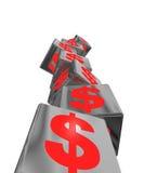 Rouge économique instable illustration de vecteur
