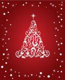 rouge abstrait de Noël Photos libres de droits