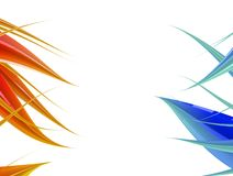 Rouge abstrait et bleu de fond images libres de droits