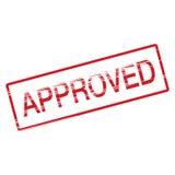 Rouge approuvé de tampon en caoutchouc Photos libres de droits
