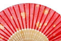 rouge asiatique de ventilateur Image stock