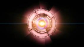 Rouge audio spectral d'animation illustration de vecteur