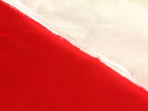 Rouge blanc de tissu Image stock