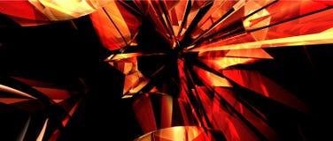 Rouge brisé illustration stock