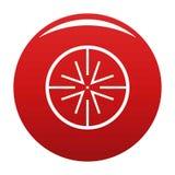 Rouge central de vecteur d'icône de cible illustration stock