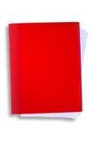 rouge chaud de chemin de dossier de découpage Photo stock