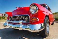 Rouge Chevrolet 1955 210 Photo stock