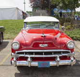 1954 rouge Chevy Bel Air Images stock