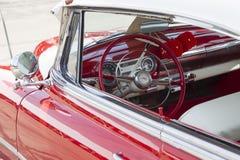 1954 rouge Chevy Bel Air Interior Photographie stock libre de droits