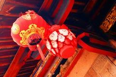 rouge chinois de lanterne Image stock