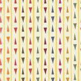 Rouge contemporain, bleu, orange, triangles tirées par la main vertes avec les rayures grunges en tant que modèle sans couture gé illustration de vecteur