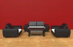 Rouge contemporain de salon illustration de vecteur
