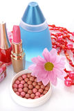 Rouge and cosmetics stock image