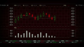 Rouge courant de diagramme de représentation illustration stock