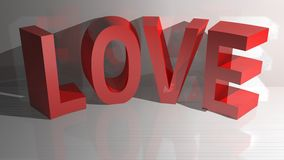 Rouge d'amour Image libre de droits
