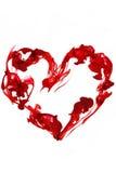 rouge d'amour de coeur Image libre de droits