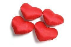 rouge d'amour de coeurs Image libre de droits
