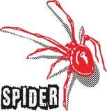 Rouge d'araignée Photos stock