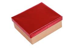 rouge d'or de cadeau de cadre Photos stock
