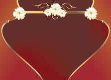 rouge d'or de fleur de conception de courbe illustration libre de droits