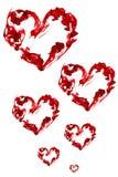 rouge d'encre de coeur Images libres de droits