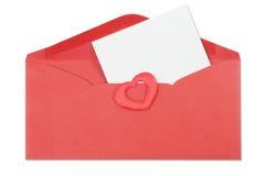 rouge d'enveloppe photos libres de droits