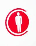 Homme de symbole images stock
