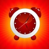 rouge d'horloge d'alarme Photos stock