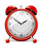 rouge d'horloge d'alarme Photo stock