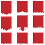 rouge d'indicateur de baisse de boutons Images stock