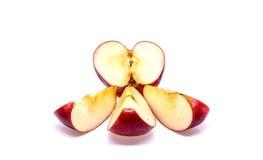 rouge d'isolement frais de pomme Image libre de droits