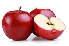 rouge d'isolement par gala de pommes image stock