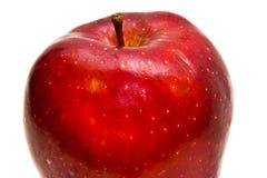 rouge d'isolement par pomme Photographie stock libre de droits