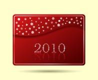 Rouge d'onde de cartes en liasse de flocons de neige Images libres de droits