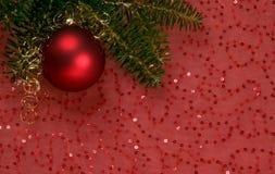 rouge d'ornement de Noël Images stock