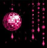 Rouge de bille de disco Photographie stock
