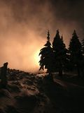 Brouillard rouge Photos libres de droits