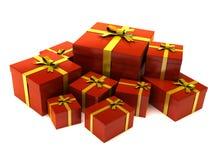 rouge de cadeau Image libre de droits