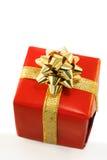rouge de cadeau de cadre Photos libres de droits